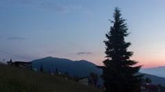 Twilight timelapse of a beautiful landscape Stock Footage