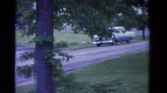 1958: modest bungalow in forested rural area panned MINNESOTA Stock Footage