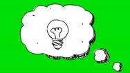 Speech Bubble Idea  - Animation - Hand-Drawn - Green Screen - Loop Stock Footage