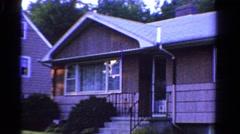 1958: suburban house bi level home sunken 2 car garage. MINNESOTA Stock Footage