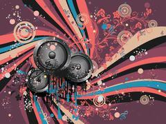 Grunge Loud Speaker Stock Illustration