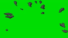 Exploding Black Star - Animation - Hand-Drawn - Green Screen - Loop Stock Footage