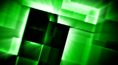 Green glowing squares hi-tech abstract motion background seamless loop Stock Footage