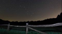 Polaris star, Ursa Major, Big Dipper constellation Northern star. Stock Footage