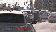 Traffic gridlock and road construction Stock Footage