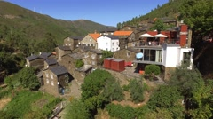 Stone house Classic Portuguese Historic Village Piodao Piodão steady shot 4k Stock Footage