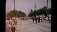 1961: soldiers in uniform marching in street parade HAGERSTOWN, MARYLAND Stock Footage