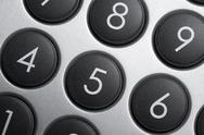 Numerical pad detail Stock Photos
