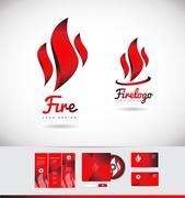 Fire flame logo icon shape design Stock Illustration