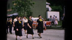1961: young men , women and boys participating in boy scouts parade HAGERSTOWN Arkistovideo