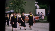 1961: young men , women and boys participating in boy scouts parade HAGERSTOWN Stock Footage