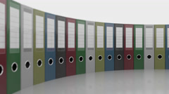 Various office binders. Good for reports and presentations. 4K seamless loopable Stock Footage