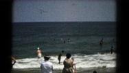 1961: beach scene is seen HAGERSTOWN, MARYLAND Stock Footage