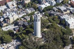 Aerial View of Coit Tower Park San Francisco Kuvituskuvat