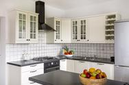 Space-saving solution for small kitchen idea Stock Photos