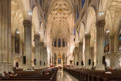Interior of Saint Patrick's Cathedral in New York City Stock Photos