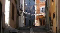An alley in a European city. Stock Footage