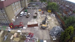 Aerial view of demo works Stock Footage