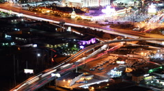 Las Vegas Cityscape 34 Time Lapse Loop Freeway Stock Footage