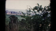 1961: view of the countryside with bush in front of the camera HAGERSTOWN Stock Footage
