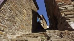 Stone Houses of Classic Portuguese Historic Village Piodao Piodão steady 4k Stock Footage