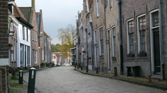 A residential street in a European town. Stock Footage
