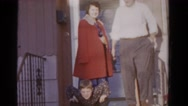1958: an indoor family party is seen MINNESOTA Stock Footage