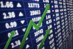 Interactive stock market chart Stock Photos