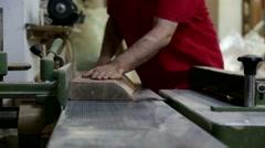Carpenter lumbering master man Stock Footage