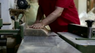 Carpenter lumbering master man Stock Footage
