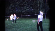 1958: father is seen playing with children MINNESOTA Stock Footage