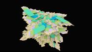 4k Square fractal boxes Loop on black background Stock Footage