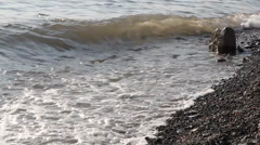 Surf on the black sea Stock Footage