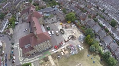 Demolition works from the bird's view Stock Footage