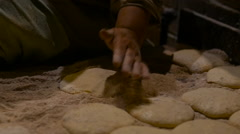 Traditional Egyptian flatbread are cooked in the oven Stock Footage