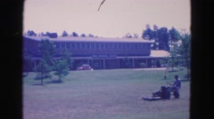 1964: mowing JAMESTOWN, VIRGINIA Stock Footage