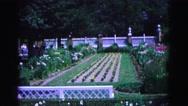 1964: garden is seen WILLIAMSBURG Stock Footage