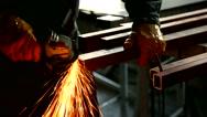 Blacksmith iron welding industry Stock Footage