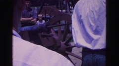 1964: demonstration of canon at park WILLIAMSBURG Stock Footage