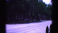 1964: snow covered road is seen WILLIAMSBURG Stock Footage