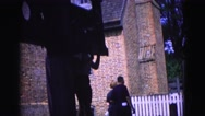1964: testing out guillotine WILLIAMSBURG Stock Footage