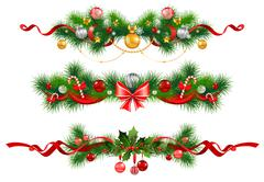 Christmas decoration with  spruce  tree Stock Illustration