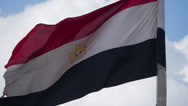 Flag of Egypt in Cairo Stock Footage