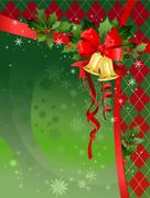Christmas festive background with bells Stock Illustration