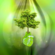 World Environment Day. World Day of Environment, concept the blossoming Earth Stock Illustration