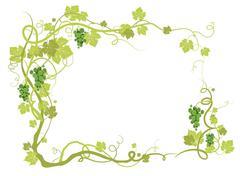 Green vineyard frame Stock Illustration