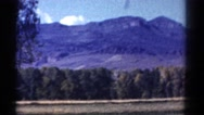 1967: moving shot of an outdoor mountain setting COLORADO Stock Footage