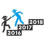 2017 Business Training Flat Vector Icon Stock Illustration