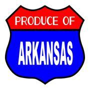 Produce Of Arkansas Stock Illustration