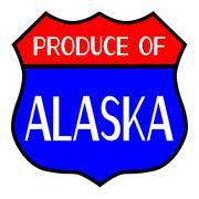 Produce Of Alaska Stock Illustration
